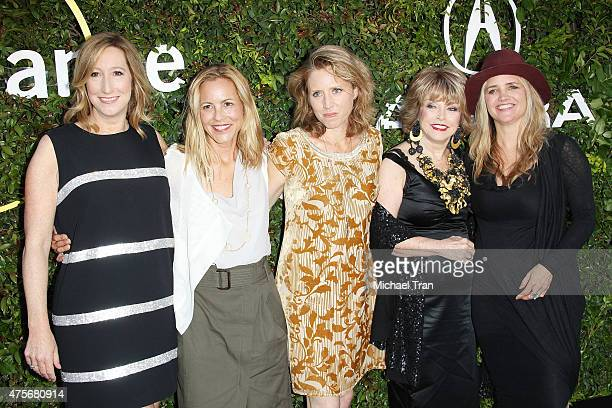 Keri Putnam Maria Bello Amy Redford Pat Mitchell and Clare Munn arrive at the 2015 Sundance Institute Celebration Benefit held at 3LABS on June 2...