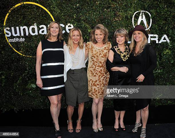 Keri Putnam Maria Bello Amy Redford Pat Mitchell and Clare Munn arrives for the 2015 Sundance Institute celebration benefit held at 3LABS on June 2...