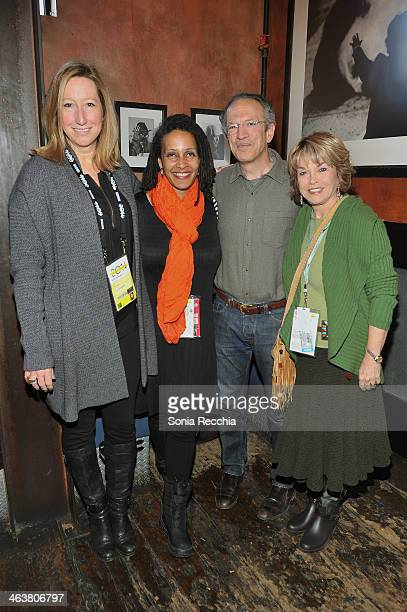 Keri Putnam Tabitha Jackson Christopher Stone and Pat Mitchell attend the Foundations Reception at Zoom Restaurant during the 2014 Sundance Film...