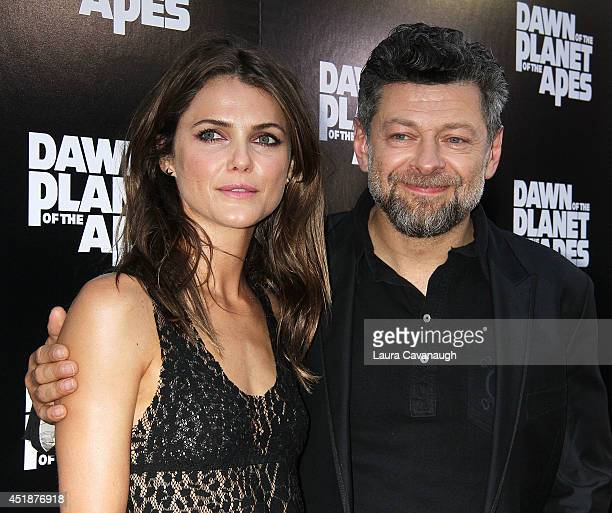 Keri Russell and Andy Serkis attend the Dawn Of The Planets Of The Apes premiere at Williamsburg Cinemas on July 8 2014 in New York City