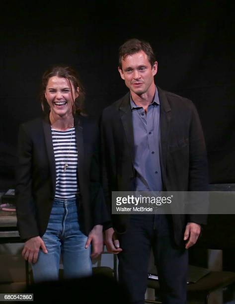 Keri Russell and Hugh Dancy taking bows at the Indigo Theatre Project's Benefit Reading of 'An America Daughter' at The Tony Kiser Theater on May 8...