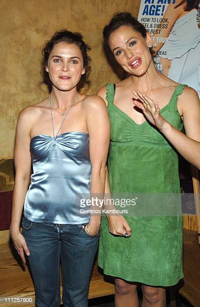 Keri Russell and Jennifer Garner during InStyle Magazine Hosts Cocktail Reception and Screening of '13 Going On 30' at Nobu in New York City New York...