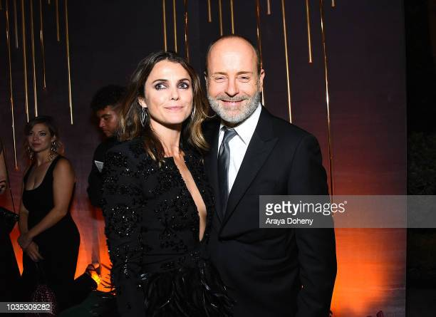 Keri Russell and John Landgraf attend FOX Broadcasting Company FX National Geographic and 20th Century Fox Television 2018 Emmy Nominee Party at...