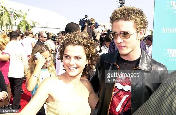 Keri Russell and Justin Timberlake during 2000 Teen Choice Awards at Barker Hanger in Santa Monica California United States