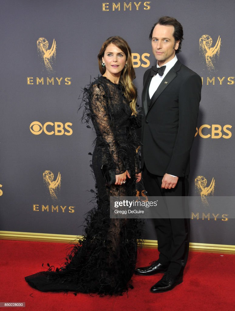 Keri Russell and Matthew Rhys arrive at the 69th Annual Primetime Emmy Awards at Microsoft Theater on September 17, 2017 in Los Angeles, California.