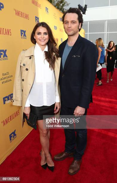 Keri Russell and Matthew Rhys attend FX's The Americans For Your Consideration Event at Saban Media Center on June 1 2017 in North Hollywood...