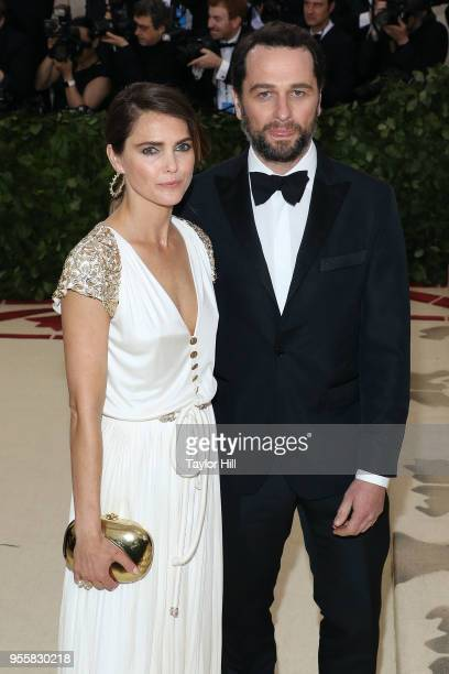 Keri Russell and Matthew Rhys attend Heavenly Bodies Fashion the Catholic Imagination the 2018 Costume Institute Benefit at Metropolitan Museum of...