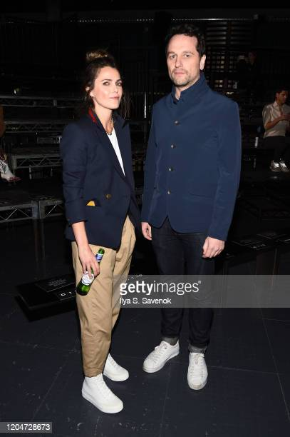 Keri Russell and Matthew Rhys attend rag & bone Fall/Winter 2020 at Skylight on Vesey on February 07, 2020 in New York City.