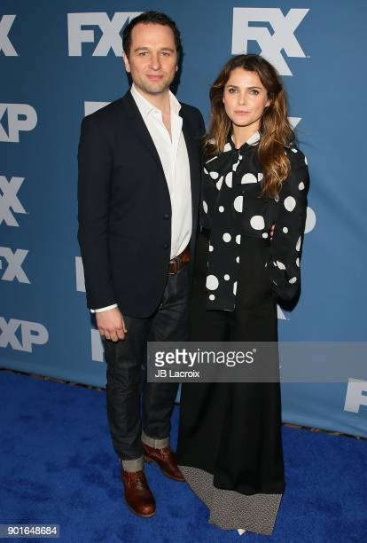 Keri Russell and Matthew Rhys attend the 2018 Winter TCA Tour FX Starwalk on January 05 2018 in Pasadena California