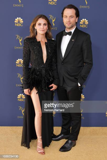 Keri Russell and Matthew Rhys attend the 70th Emmy Awards at Microsoft Theater on September 17, 2018 in Los Angeles, California.