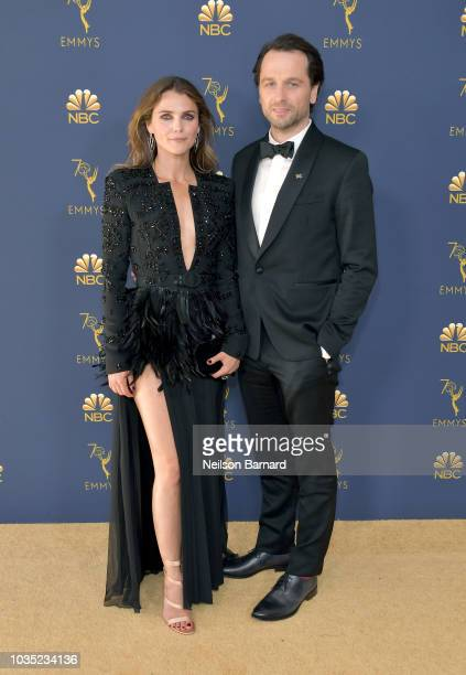 Keri Russell and Matthew Rhys attend the 70th Emmy Awards at Microsoft Theater on September 17 2018 in Los Angeles California