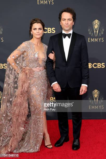 Keri Russell and Matthew Rhys attend the 73rd Primetime Emmy Awards at L.A. LIVE on September 19, 2021 in Los Angeles, California.