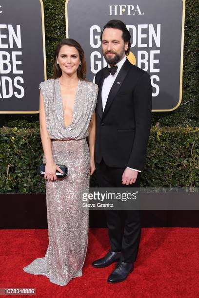 Keri Russell and Matthew Rhys attend the 76th Annual Golden Globe Awards at The Beverly Hilton Hotel on January 6, 2019 in Beverly Hills, California.