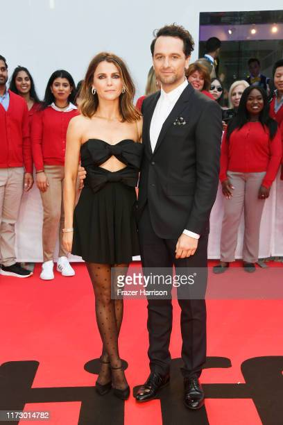 "Keri Russell and Matthew Rhys attend the ""A Beautiful Day In The Neighborhood"" premiere during the 2019 Toronto International Film Festival at Roy..."