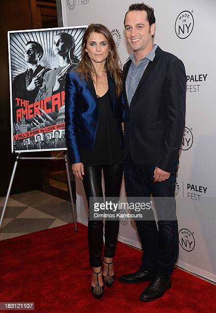 Keri Russell and Matthew Rhys attend 'The Americans' panel during 2013 PaleyFest Made In New York at The Paley Center for Media on October 4 2013 in...
