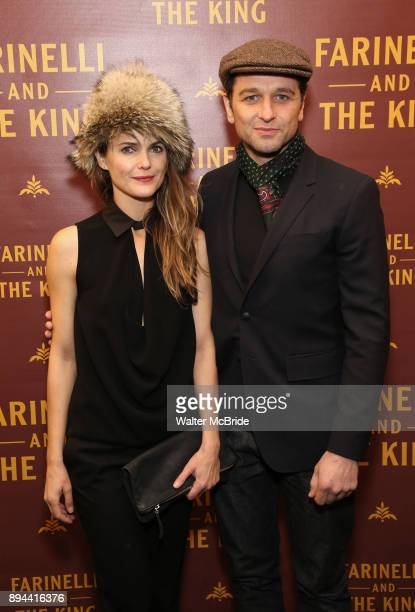 Keri Russell and Matthew Rhys attend the Broadway opening night performance of 'Farinelli and the King' at The Belasco Theatre on November 17 2017 in...