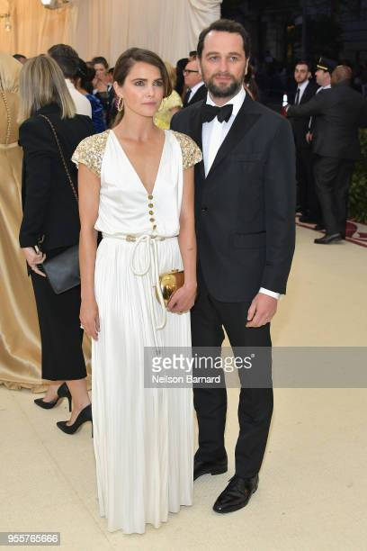 Keri Russell and Matthew Rhys attend the Heavenly Bodies Fashion The Catholic Imagination Costume Institute Gala at The Metropolitan Museum of Art on...