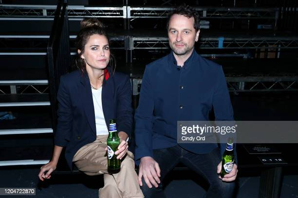 Keri Russell and Matthew Rhys attend the Rag Bone fashion show during February 2020 New York Fashion Week The Shows on February 07 2020 in New York...
