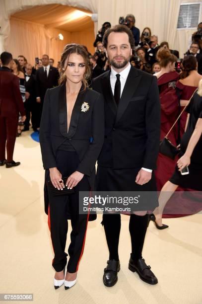 Keri Russell and Matthew Rhys attend the 'Rei Kawakubo/Comme des Garcons Art Of The InBetween' Costume Institute Gala at Metropolitan Museum of Art...