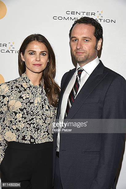 Keri Russell and Matthew Rhys stars of 'The Americans' attend the Center For Communication Luncheon honoring John Landgraf CEO FX Network FX...