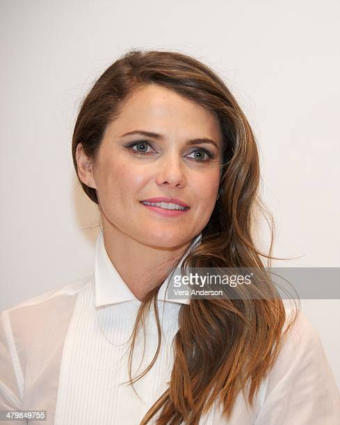 "Keri Russell at ""The Americans"" Press Conference at the Russian Tea Room on March 18, 2014 in New York City."
