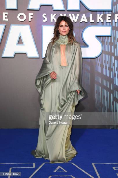 "Keri Russell attends ""Star Wars: The Rise of Skywalker"" European Premiere at Cineworld Leicester Square on December 18, 2019 in London, England."