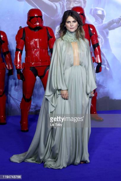 Keri Russell attends Star Wars The Rise of Skywalker European Premiere at Cineworld Leicester Square on December 18 2019 in London England