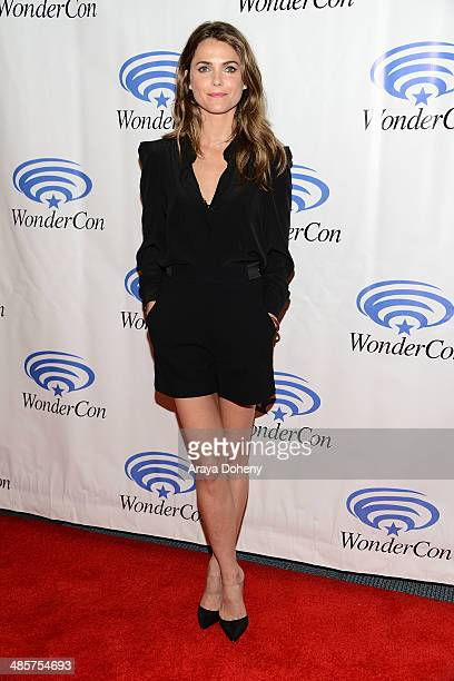 Keri Russell attends the Dawn of the Planet of the Apes press line at WonderCon Anaheim 2014 Day 2 at Anaheim Convention Center on April 19 2014 in...