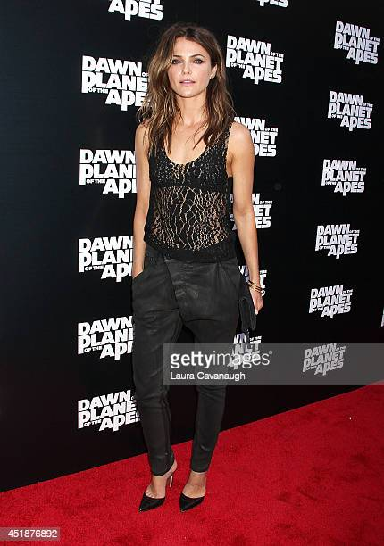 Keri Russell attends the Dawn Of The Planets Of The Apes premiere at Williamsburg Cinemas on July 8 2014 in New York City
