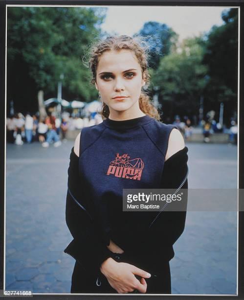 Keri Russell in a Puma TShirt