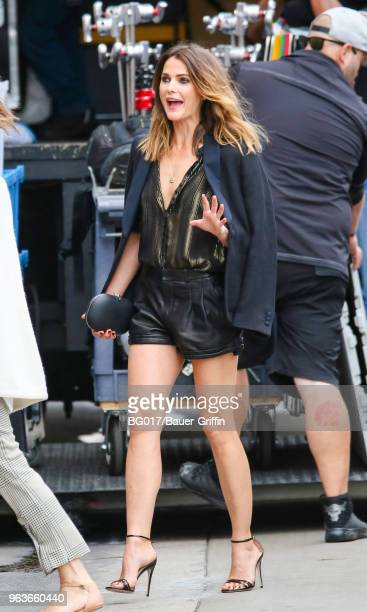 Keri Russell is seen arriving at the 'Jimmy Kimmel Live' on May 29, 2018 in Los Angeles, California.