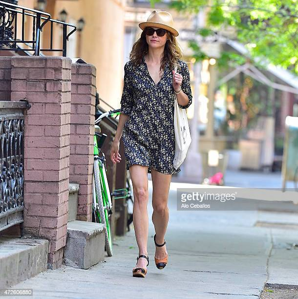 Keri Russell is seen in the West Village on May 8, 2015 in New York City.