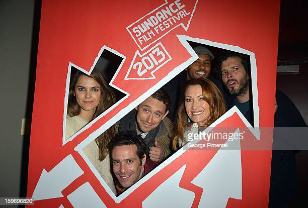 Keri Russell James Callis JJ Feild Jane Seymour Rickey Whittle and Bret McKenzie attend Austenland Premiere during the 2013 Sundance Film Festival at...
