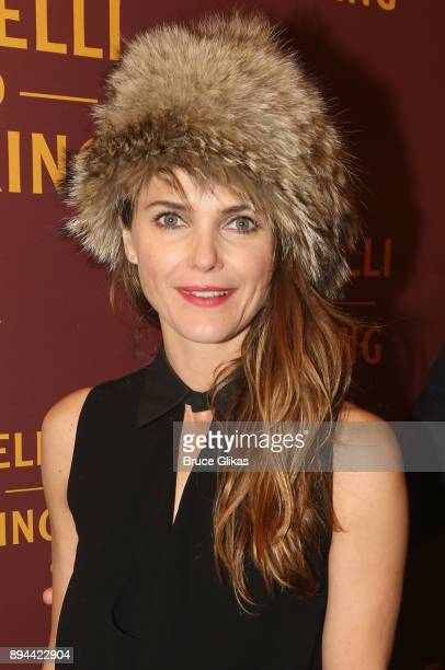 Keri Russell poses at the opening night of 'Farinelli and The King' on Broadway at The Belasco Theatre on December 17 2017 in New York City