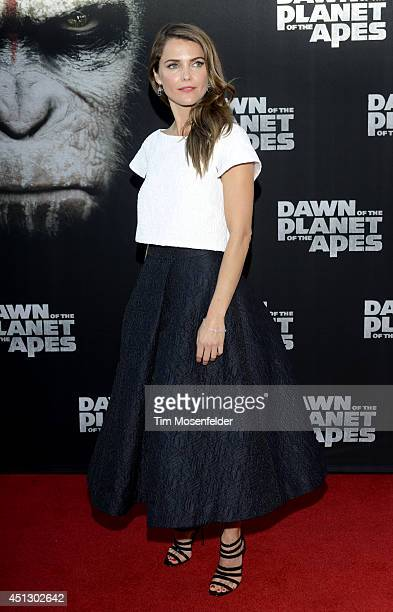 Keri Russell poses at the premiere of 20th Century Fox's Dawn of the Planet of the Apes at the Palace Of Fine Arts Theater on June 26 2014 in San...