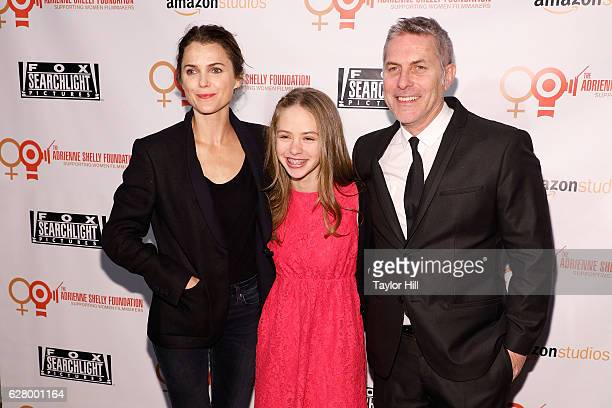 Keri Russell Sophie Ostroy and Andy Ostroy attend the Adrienne Shelly Foundation 10th Anniversary Gala at The Angel Orensanz Foundation on December 5...