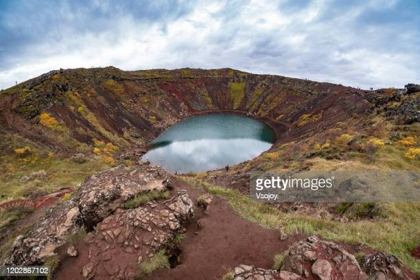 kerið volcanic crater i, iceland. - vsojoy stock pictures, royalty-free photos & images