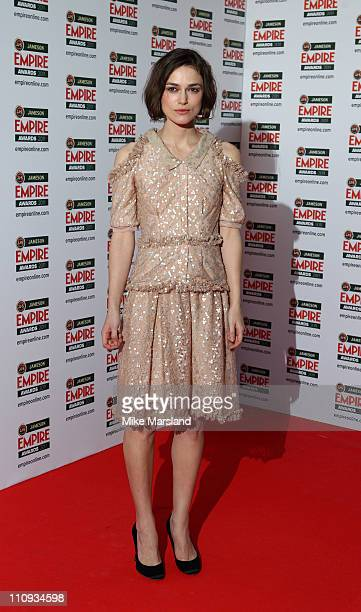 Keria Knightley arrives at the Jameson Empire Awards at The Grosvenor House Hotel on March 27, 2011 in London, England.