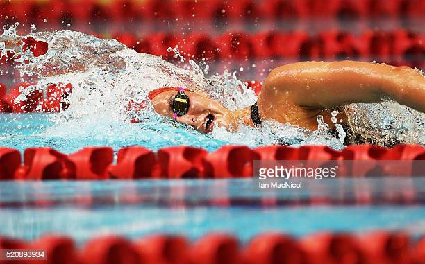 KeriAnn Payne competes in the Women's 800m Freestyle during Day Two of The British Swimming Championships at Tollcross International Swimming Centre...