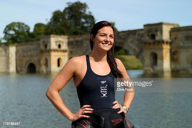 KeriAnne Payne poses prior to the British Gas SwimBritain event at Blenheim Palace on September 1 2013 in Woodstock England SwimBritain events are...