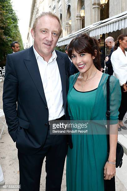 CEO Kering Francois Henri Pinault and Singer Nolwenn Leroy attend the 'Qeelin' high Jewellery Exhibition opening Cocktail 'Mogoaku in Paris' at...