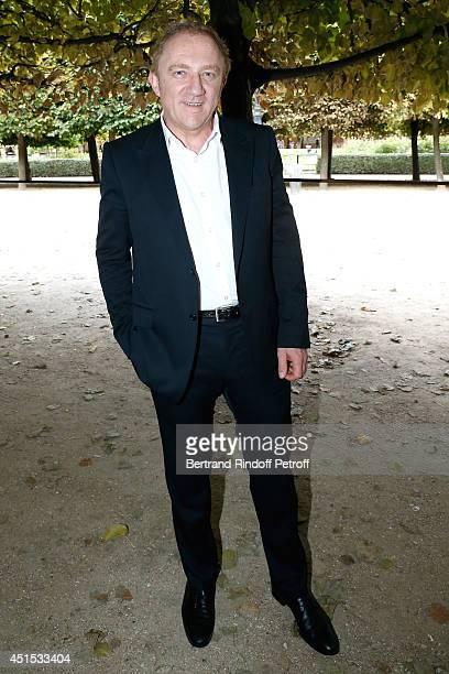 Kering Francois Henri Pinault attends the 'Qeelin' high Jewellery Exhibition opening Cocktail 'Mogoaku in Paris' at Jardin du Palais Royal on June 30...