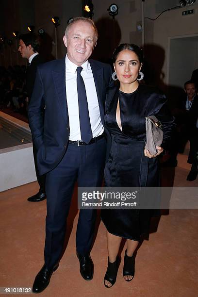 Kering FrancoisHenri Pinault and Actress Salma Hayek attend the Balenciaga show as part of the Paris Fashion Week Womenswear Spring/Summer 2016 on...