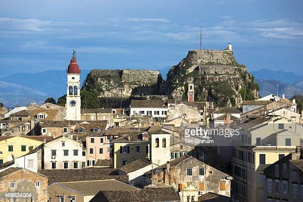 Kerkyra Corfu Town Agios Spyridon church Old Fort The Paleo Frourio in Corfu Greece