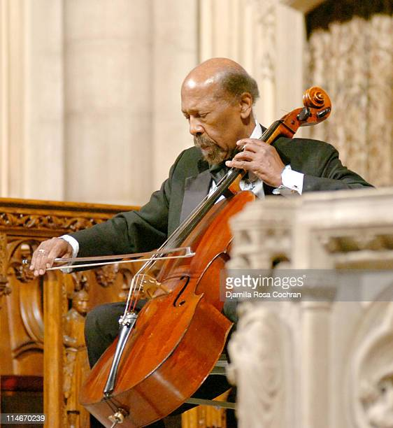 Kermit Moore at Riverside Church during the funeral service for Photographer Gordon Parks on March 14 2006 in New York City