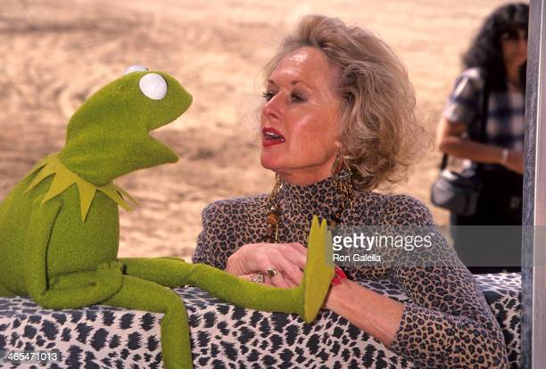 Kermit the Frog and actress Tippi Hedren attend the Artists for Shambala Benefit for the Shambala Preserve on October 30 1994 at the Sambala Preserve...