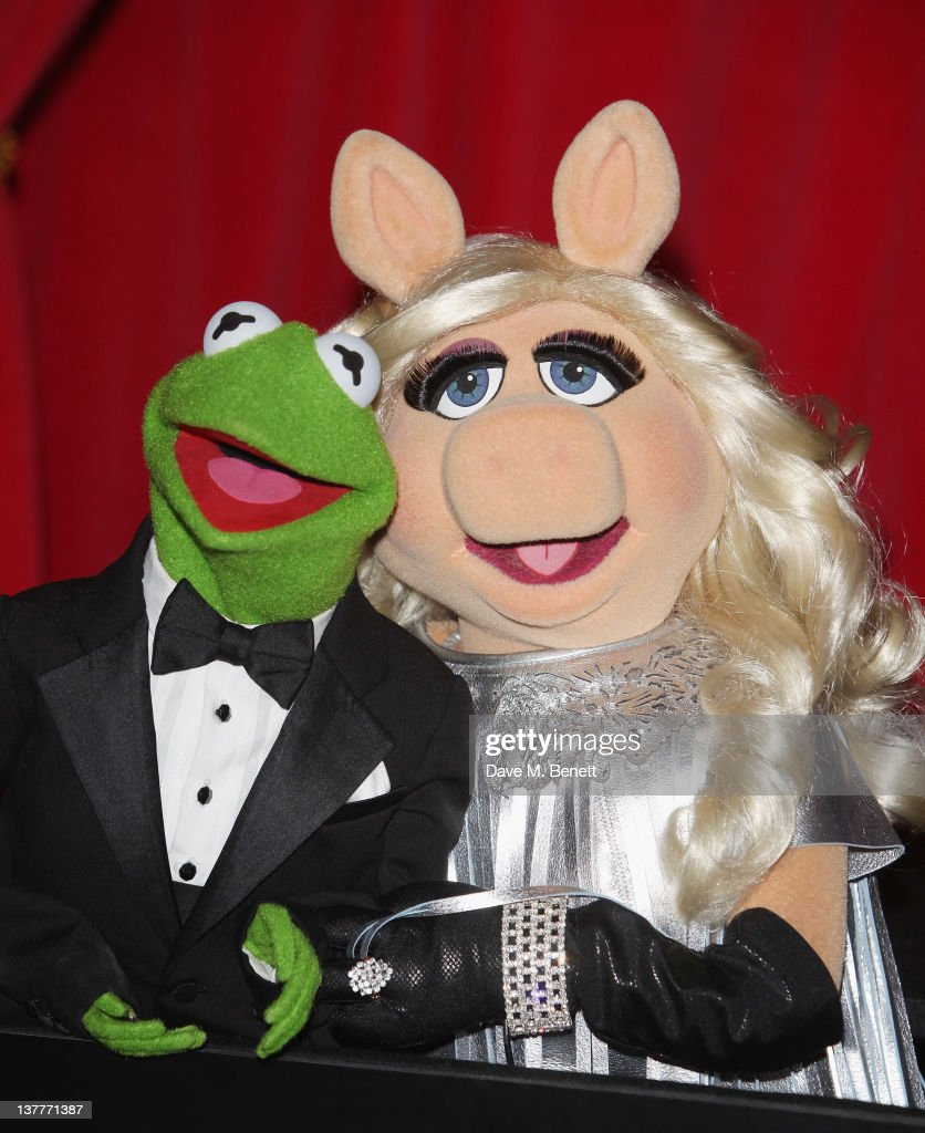 Kermit the Frog and Miss Piggy attend the UK premiere of 'The Muppets' at The Mayfair Hotel on January 26, 2012 in London, England.
