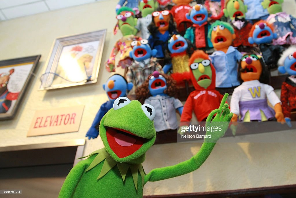 Kermit the Frog appears at the Whatnot Workshop at FAO Schwarz on November 11, 2008 in New York City.