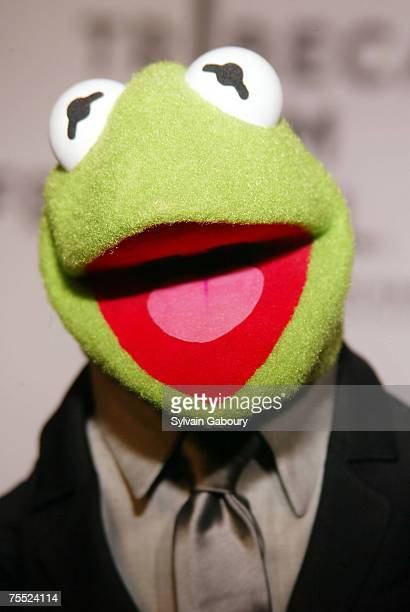 """Kermit the Frog at the Tribeca Family Festival screening of """"The Muppets' Wizard of Oz"""" at Tribeca Performing Arts Center in New York, New York."""