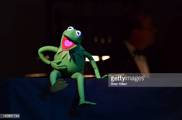 Kermit the Frog performs during The New York Pops Present Jim Henson's Musical World at Carnegie Hall on April 14 2012 in New York City